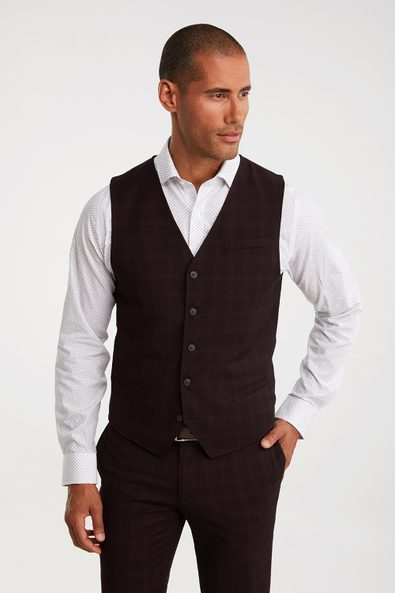 Checkered Fitted vest