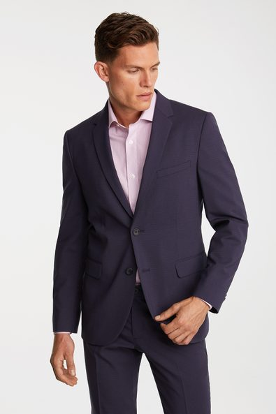 Micro check Fitted blazer