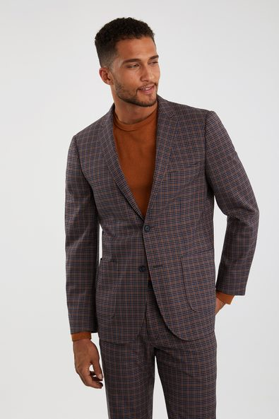 Plaid Extra-fitted blazer