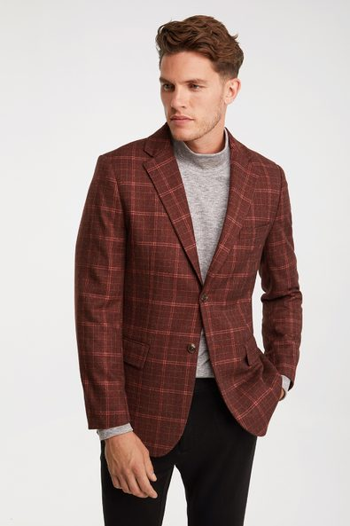 Fitted check blazer