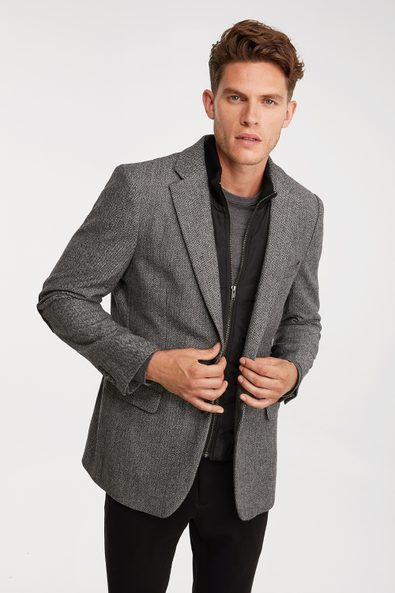 Removable collar Fitted blazer