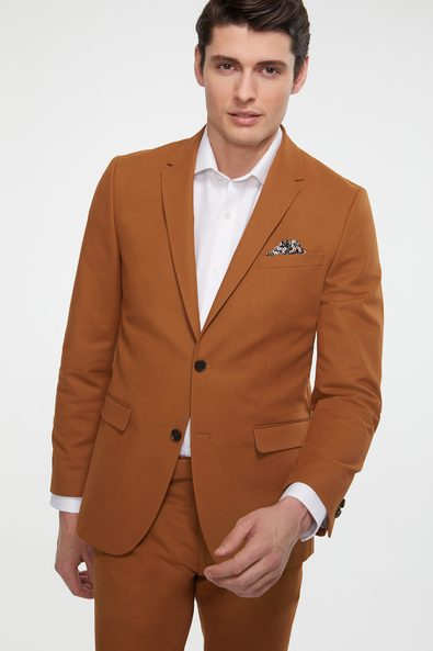 Solid colour Extra-fitted blazer